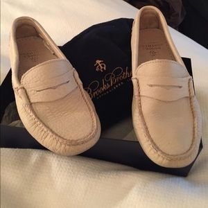 Brooks Brothers drivers cream leather
